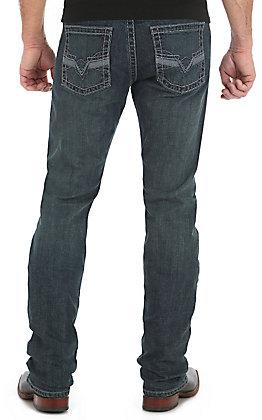 Rock 47 by Wrangler Men's Dark Wash Tuba Slim Straight Stretch Jeans