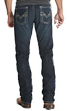 Rock 47 by Wrangler Men's Dark Wash Verse Slim Straight Stretch Jeans