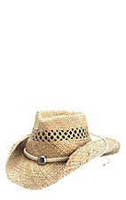 Dorfman Pacific Seagrass Vent Crushable Cowboy Hat