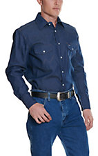 Wrangler Rigid Denim Long Sleeve Workshirt MS70119T - Big & Tall Sizes