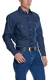 ce08d28c3a Wrangler Rigid Denim Long Sleeve Workshirt MS70119- Alpha Sizes ...