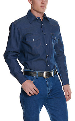 Wrangler Rigid Denim Long Sleeve Workshirt MS70119- Alpha Sizes