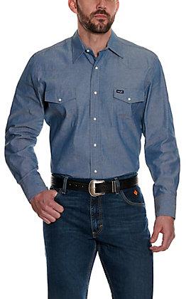 Wrangler Men's Chambray Long Sleeve Work Shirt