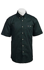 Larro S/S Mens Solid Hunter Green Shirt MSSL901HU