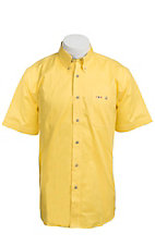 Larro S/S Mens Solid Yellow Shirt MSSL901YW