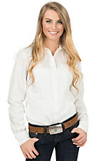 Cinch Women's Solid White Long Sleeve Western Shirt