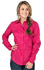 Cinch Women's Solid Pink Long Sleeve Western Shirt