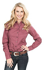 Cinch Women's Burgundy and Tan Print Long Sleeve Western Shirt