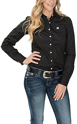 Cinch Women's Black Long Sleeve Western Shirt