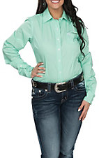 Cinch Women's Mint L/S Western Shirt
