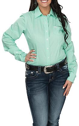 Cinch Women's Mint Long Sleeve Western Shirt