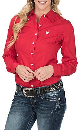 Cinch Women's Red Long Sleeve Western Shirt