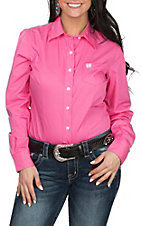 Cinch Women's Pink L/S Western Shirt