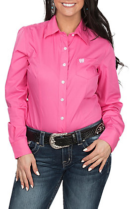 Cinch Women's Pink Long Sleeve Western Shirt