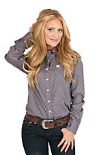 Cinch Women's Grey and Purple Circle Long Sleeve Western Shirt