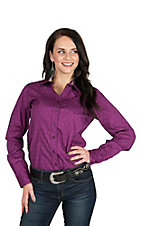 Cinch Women's Purple Diamond Print Long Sleeve Western Shirt