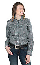 Cinch Women's Mint Square Long Sleeve Western Shirt