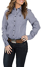 Cinch Women's Navy Checkered L/S Western Shirt
