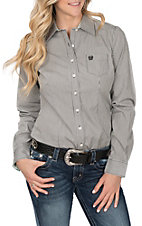 Cinch Women's Black and White L/S Western Shirt
