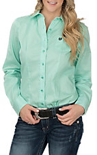 Cinch Women's Mint Mini Dot Print L/S Western Shirt
