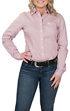 Cinch Women's Pink Floral & Diamond Print L/S Western Shirt
