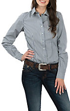 Cinch Women's Blue Stripe L/S Western Shirt