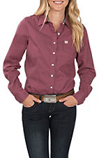 Cinch Women's Long Sleeve Magenta Dot Print Western Shirt