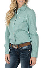 Cinch Women's Long Sleeve Turquoise Print Western Shirt