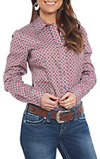 Cinch Women's Long Sleeve Pink Print Western Shirt