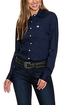 Cinch Women's Navy Long Sleeve Western Shirt