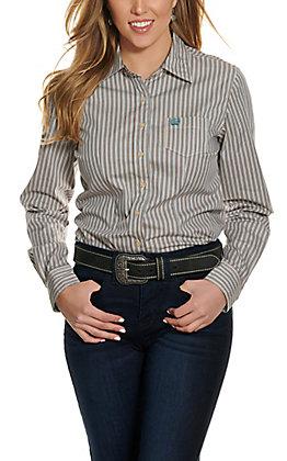 Cinch Women's Multi Color Stripe Long Sleeve Western Shirt