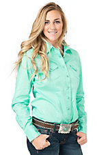 Cinch Women's Turquoise Long Sleeve Western Snap Shirt