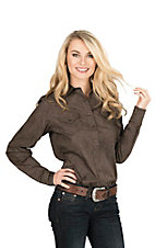 Cinch Women's Brown Paisley Print Long Sleeve Western Snap Shirt