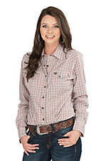 Cinch Ladies Red Plaid Long Sleeve Western Snap Shirt