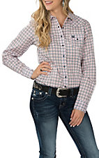 Cinch Women's Pink Floral Circle Print L/S Western Snap Shirt