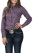 Cinch Women's Long Sleeve Purple Paisley Western Shirt