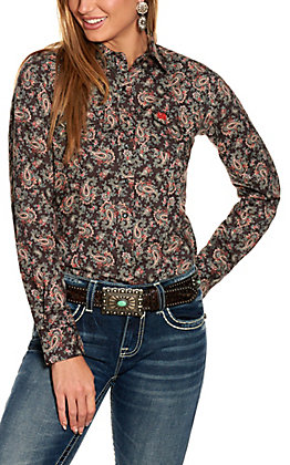 Cinch Women's Black Paisley Long Sleeve Western Shirt