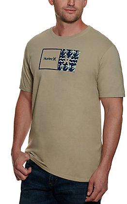 Hurley Men's Fog and Spruce Logo Short Sleeve T-Shirt