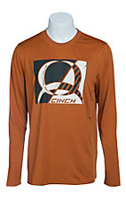 Cinch Men's Burnt Orange Long Sleeve Tech Shirt MTK1720004