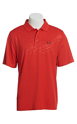 Cinch Men's ArenaFlex Solid Red Short Sleeve Polo Shirt