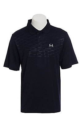 Cinch Men's ArenaFlex Navy Solid Short Sleeve Polo Shirt