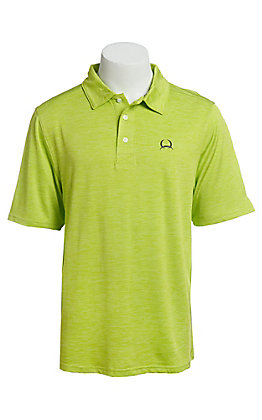 Cinch Men's ArenaFlex Solid Lime Short Sleeve Polo Shirt