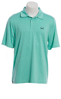 Cinch Men's Arenaflex Mint Short Sleeve Polo Shirt