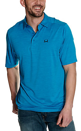 Cinch Men's ArenaFlex Heather Blue Short Sleeve Polo Shirt