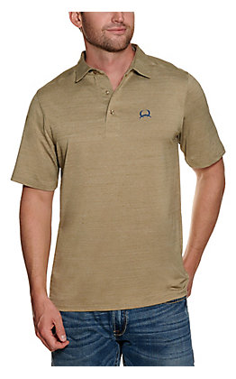 Cinch Men's ArenaFlex Heather Khaki Short Sleeve Polo Shirt