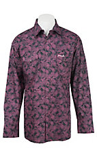 Wrangler Tough Enough To Wear Pink Women's Pink Paisley Print Long Sleeve Western Snap Shirt