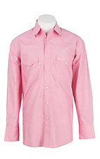 Wrangler Men's Tough Enough To Wear Pink Long Sleeve Western Snap Shirt