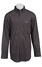 Wrangler Tough Enough To Wear Pink Men's Long Sleeve Western Shirt MTP243M