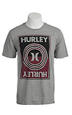 Hurley Men's Blindsider Heather Grey Short Sleeve Tee