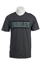 Hurley Men's Knife Heather Black Short Sleeve Tee